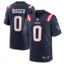 Kyle Dugger New England Patriots Nike 2020 NFL Draft Pick Jeu Maillot - Marine