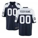 Maillot de jeu de retour personnalisé des Dallas Cowboys Nike Hommes