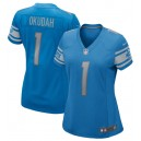 Jeff Okudah Detroit Lions Nike Women's 2020 NFL Draft First Round Pick Jeu Maillot - Bleu