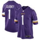 Jeff Gladney Minnesota Vikings Nike 2020 NFL Draft First Round Pick Jeu Maillot - Violet