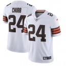 Nick Chubb Cleveland Browns Nike Vapor Limited Maillot - Blanc