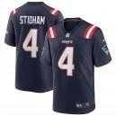 Jarrett Stidham New England Patriots Nike Jeu Maillot - Marine
