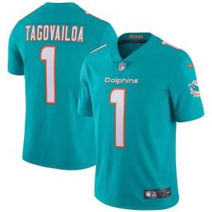 Tua Tagovailoa Miami Dolphins Nike Vapeur Limitée Maillot - Aqua
