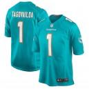 Tua Tagovailoa Miami Dolphins Nike 2020 NFL Draft First Round Pick Jeu Maillot - Aqua