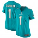 Tua Tagovailoa Miami Dolphins Nike Femmes 2020 NFL Draft First Round Pick Jeu Maillot - Aqua