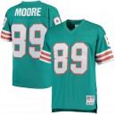 Nat Moore Miami Dolphins Mitchell & Ness Retired Joueur Héritage Réplique Maillot - Aqua