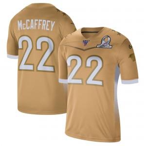 Christian McCaffrey Nike 2020 NFC Pro Bowl Jeu Maillot - Or