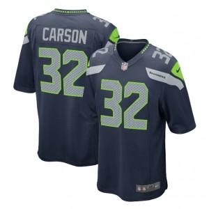 Chris Carson Seattle Seahawks Nike Jeu Joueur Maillot - Marine