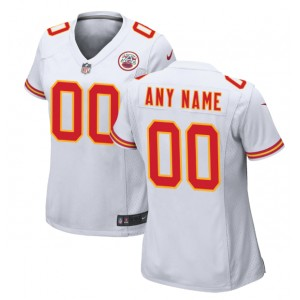 Kansas City Chiefs Nike Femmes Personnalisé Jeu Maillot - Blanc