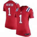 Cam Newton New England Patriots Nike Femmes Alternate Jeu Maillot - Rouge