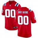 New England Patriots Nike Alternate Personnalisé Maillot - Rouge