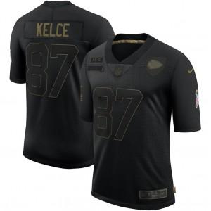 Maillot Travis Kelce Kansas City Chiefs Nike 2020 Salute To Service Limitée - Noir