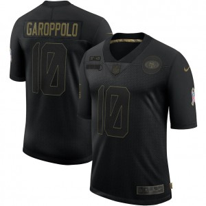 Jimmy Garoppolo San Francisco 49ers Nike 2020 Salute To Service Limitée Maillot – Noir