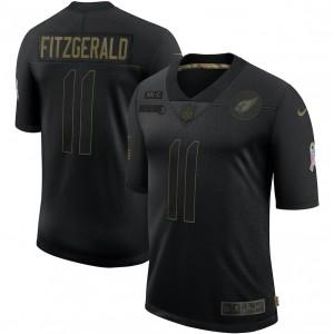 Larry Fitzgerald Arizona Cardinals Nike 2020 Salute To Service Limitée Maillot – Noir