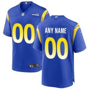 Maillot de jeu Nike Custom des Rams de Los Angeles - Royal
