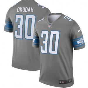 Jeff Okudah Detroit Lions Nike Leyenda Maillot - Acero