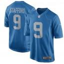 Matthew Stafford Detroit Lions Nike Throwback Jeu Maillot - Bleu