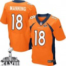 Men Nike Denver Broncos &18 Peyton Manning New Elite Orange Team Color Super Bowl XLVIII NFL Jersey