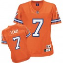 Reebok Denver Broncos &7 John Elway Orange Women Throwback Team Color Replica NFL Jersey