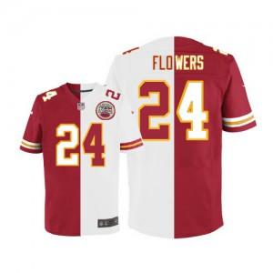 Hommes Nike Chiefs de Kansas City # 24 Brandon Flowers équipe/route élite deux tonnes NFL Maillot Magasin
