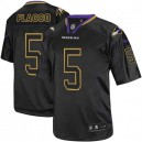 Men Nike Baltimore Ravens &5 Joe Flacco Elite Lights Out Black NFL Jersey