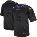 Men Nike Baltimore Ravens &5 Joe Flacco Elite New Lights Out Black NFL Jersey