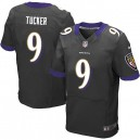 Men Nike Baltimore Ravens &9 Justin Tucker Elite Black Alternate NFL Jersey