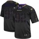 Men Nike Baltimore Ravens &92 Haloti Ngata Elite New Lights Out Black NFL Jersey
