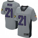 Men Nike Baltimore Ravens &21 Lardarius Webb Elite Grey Shadow NFL Jersey