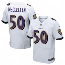 Men Nike Baltimore Ravens &50 Albert McClellan Elite White NFL Jersey