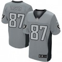Men Nike Oakland Raiders &87 Dave Casper Elite Grey Shadow NFL Jersey