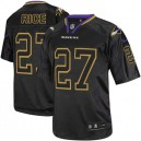 Men Nike Baltimore Ravens &27 Ray Rice Elite Lights Out Black NFL Jersey