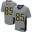 Men Nike San Diego Chargers &85 Antonio Gates Elite Grey Shadow NFL Jersey