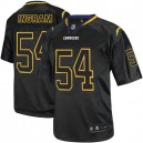 Men Nike San Diego Chargers &54 Melvin Ingram Elite Lights Out Black NFL Jersey