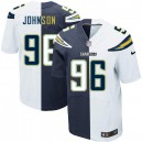 Men Nike San Diego Chargers &96 Jarret Johnson Elite Team/Road Two Tone NFL Jersey