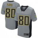 Men Nike San Diego Chargers &80 Malcom Floyd Elite Grey Shadow NFL Jersey