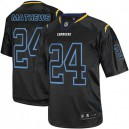 Men Nike San Diego Chargers &24 Ryan Mathews Elite Lights Out Black NFL Jersey