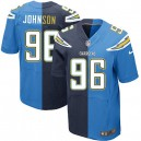 Men Nike San Diego Chargers &96 Jarret Johnson Elite Team/Alternate Two Tone NFL Jersey