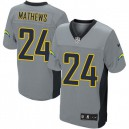 Men Nike San Diego Chargers &24 Ryan Mathews Elite Grey Shadow NFL Jersey