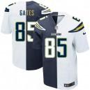 Men Nike San Diego Chargers &85 Antonio Gates Elite Team/Road Two Tone NFL Jersey