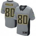 Men Nike San Diego Chargers &80 Kellen Winslow Elite Grey Shadow NFL Jersey
