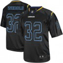 Men Nike San Diego Chargers &32 Eric Weddle Elite Lights Out Black NFL Jersey
