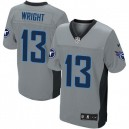 Men Nike Tennessee Titans &13 Kendall Wright Elite Grey Shadow NFL Jersey