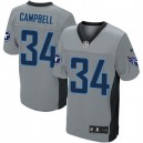 Men Nike Tennessee Titans &34 Earl Campbell Elite Grey Shadow NFL Jersey